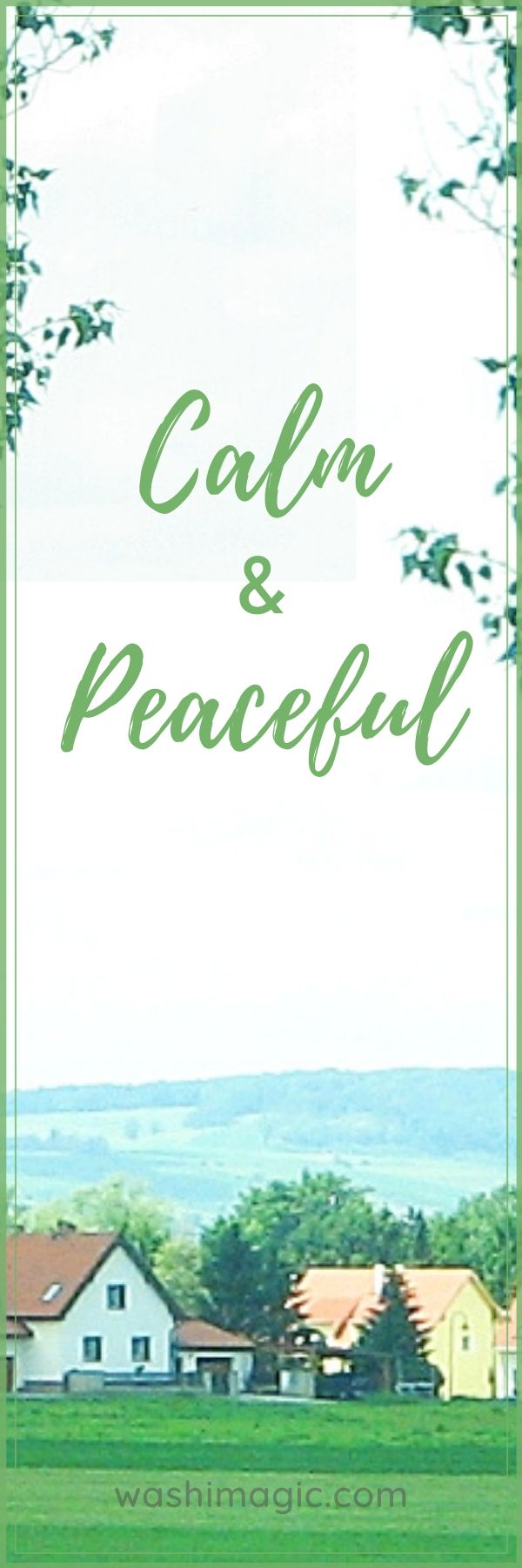 Freebies bookmark | Calm & peaceful quote | Encouraging bookmark | Inspirational bookmark | Free resources library | Washimagic.com
