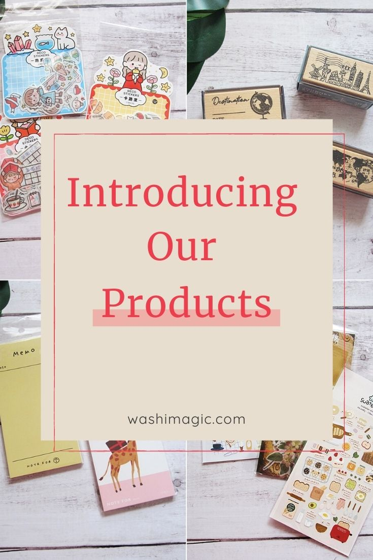 Introducing our products on lovingcottage.com | ready stock items | stickers | stamps | notebooks & notepads | stationery | Washimagic.com