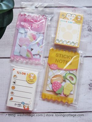 To Do List Notepad (Small, White & Peach) | Memo Pad | Cute Notepad | Lovingcottage store | Washimagic.com