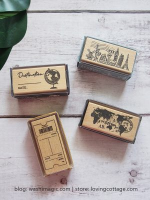 Vintage Wooden Stamp - Receipt | Cities stamp | Destination stamp | Map stamp | Lovingcottage store | Washimagic.com