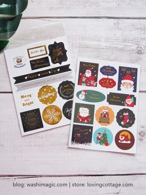 Christmas Decorative Stickers (Classic / Lovely / Elegant) | Planner Stickers | Baking Stickers | Christmas Gift Sticker | Lovingcottage store | Washimagic.com