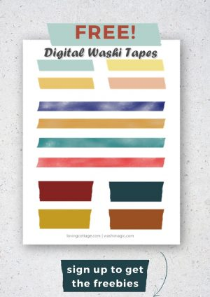 Poster for freebies | Poster for free digital washi tape | Free library | Washimagic.com