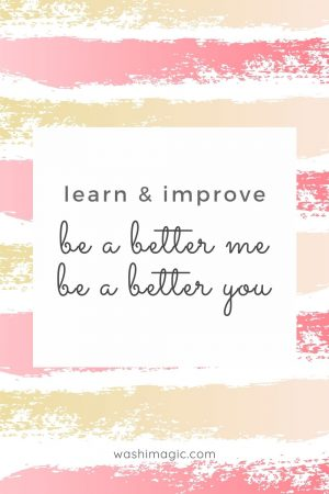 Learn & improve be a better me be a better you | Encouraging words series | Motivational quotes | Inspiring words | Encouragement for children | Washimagic.com