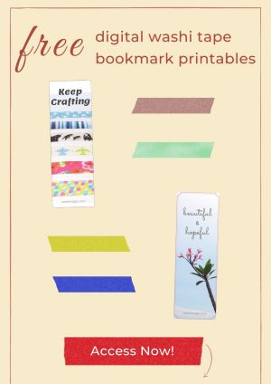 Free digital washi tape | Free bookmark printables | Freebies | Free resources library | Washimagic.com
