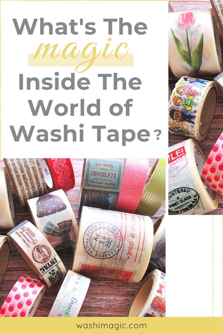 What's the magic inside the world of washi tape | Washi masking tape | decorative tape | Decorative masking tapes | Washimagic.com