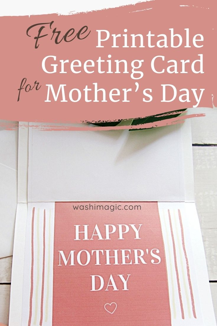Free printable homemade card from daughter | DIY greeting card for mom | Mother's Day card ideas | Gift ideas for mom | Washimagic.com