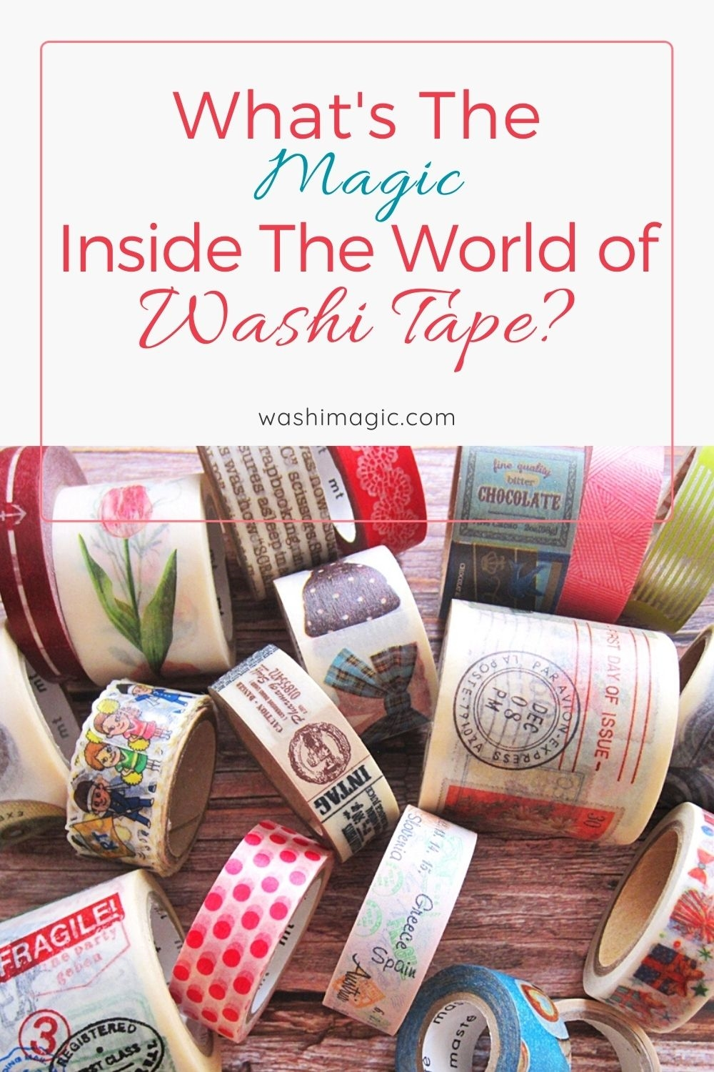 What's the magic inside the world of washi tape | Washi masking tape | decorative tape | Decorative masking tapes | Cute washi tapes | Washimagic.com