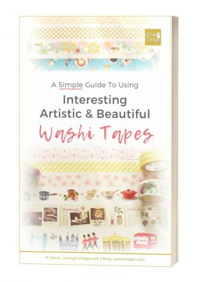 Free ebook with worksheets & template for VIP email subscribers | A simple guide to using beautiful washi tapes | Cover page | Free mini ebook about using washi tape | Washimagic.com